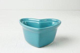 グラタン皿 ハート型/ブルー
