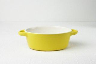 グラタン皿 楕円/イエロー