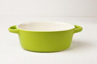 グラタン皿 楕円/グリーン
