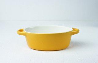 グラタン皿 楕円/オレンジ