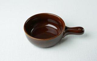耐熱皿(取っ手つき) 丸/茶