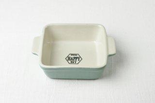 耐熱皿 角/水色