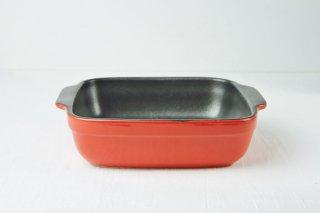 耐熱皿 角/黒×赤