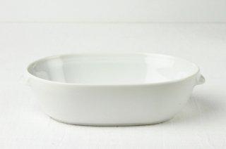 耐熱皿 楕円/白