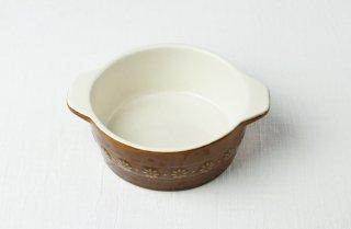 耐熱皿 丸/茶