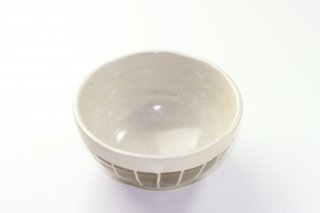 WB13 和風 鉢(白×緑)