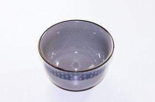 WB21 和風 鉢(グレー 青柄あり)