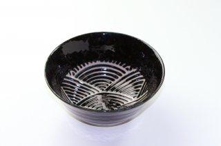 WB29 和風 鉢・どんぶり 黒×柄あり