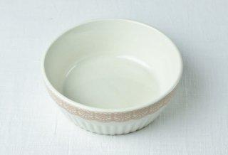 YH06 耐熱グラタン皿 白×ピンク