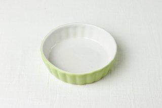 YH08 耐熱グラタン皿/黄緑