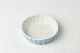 YH09 耐熱グラタン皿/水色