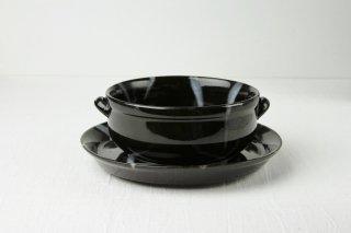 YH12 耐熱グラタン皿/黒