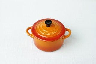 YH16 グラタン皿/オレンジ/蓋付き