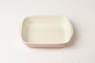 YH32 グラタン皿(角)/ピンク