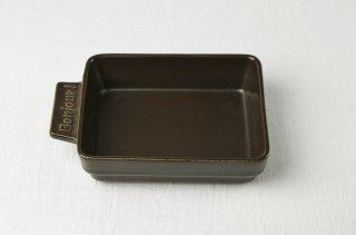 YH34 グラタン皿(角)/茶