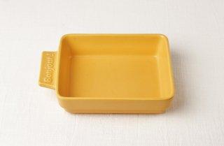 YH35 グラタン皿(角)/黄