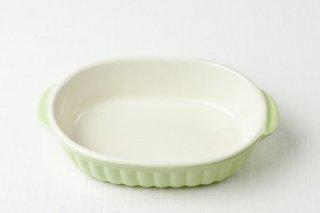 YH54 グラタン耐熱皿/黄緑