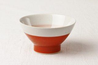 WB48 茶碗/赤×白