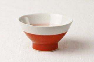 WB48 茶碗 赤×白