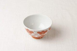 WB68 茶碗 白×赤梅
