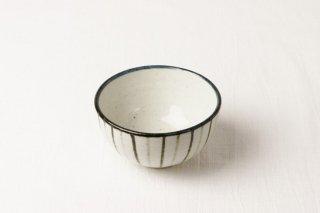WB71 茶碗 白×緑縦縞