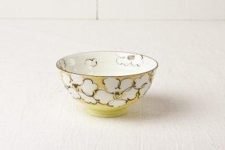 WB76 茶碗 黄×白花