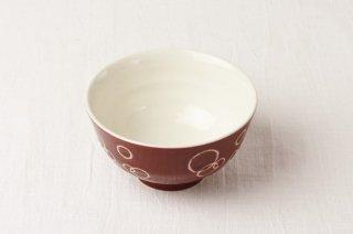 WB101 茶碗 赤×白泡