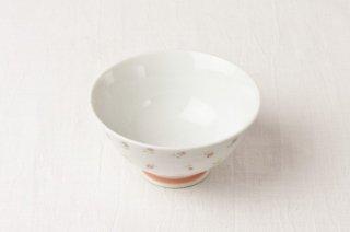 WB106 茶碗 白×ミニバラ