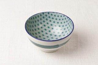 WB108 茶碗 緑(内側切子風)