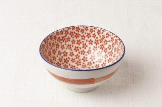 WB109 茶碗 赤(内側小花)