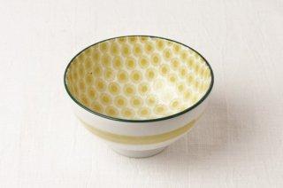 WB110 茶碗 黄(内側小花)