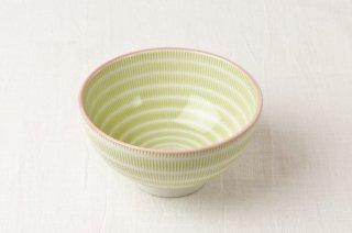 WB111 茶碗 緑縦縞