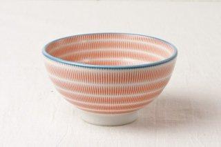 WB112 茶碗 赤縦縞