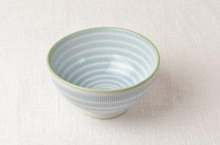 WB113 茶碗 青縦縞