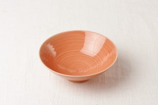 WB115 茶碗 オレンジ系(平)