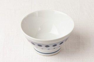 WB117 茶碗 白×青