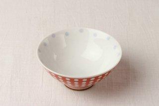 WB121 茶碗 赤/水玉