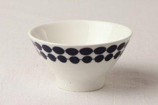 WB126 茶碗 白×青(水玉)