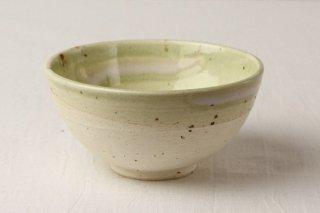 WB127 茶碗 白×黄緑