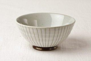 WB129 茶碗 グレー(白線)
