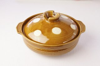 T02 土鍋(茶×白玉)