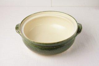 T22 土鍋(緑×ベージュ)