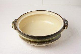T23 土鍋(茶×緑)グラデーション