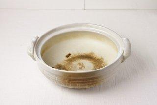 T24 土鍋(白×茶玉)