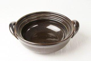 T97 土鍋(黒×茶ライン)