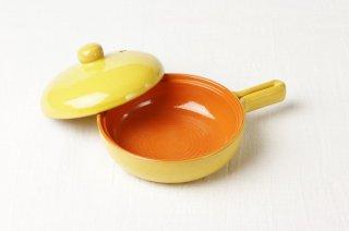 T100 片手鍋(黄×オレンジ)