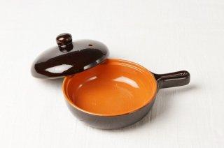 T101 片手鍋(茶×オレンジ)