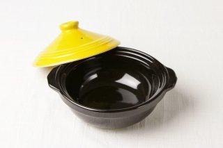 T121 土鍋(黒×黄)