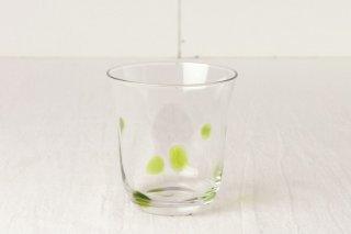 YD28 グラス 緑水玉