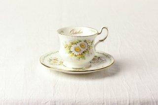 YD35 カップ&ソーサー 白・花柄